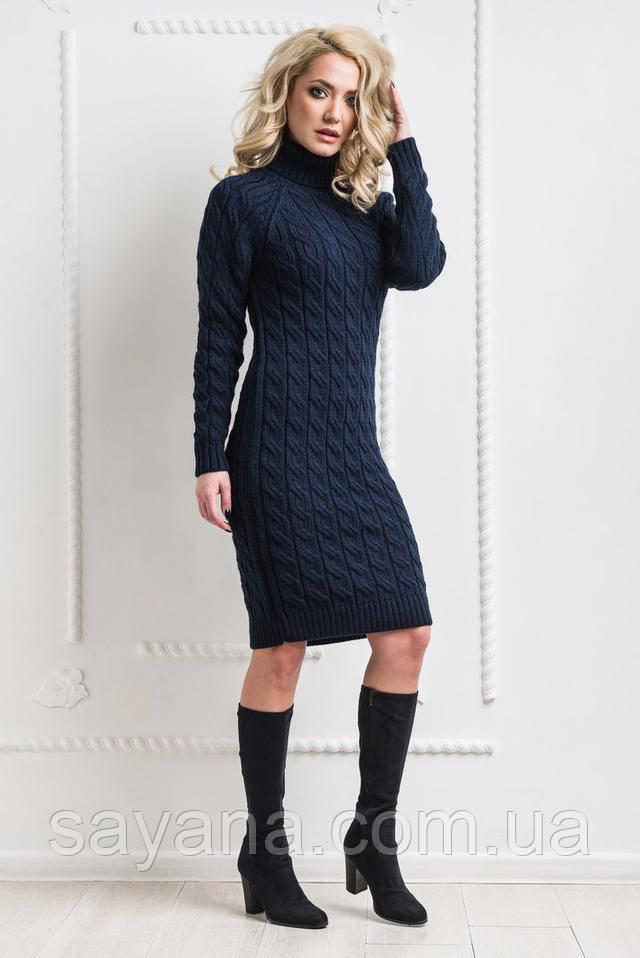 cba512deda8 Купить Женское вязаное ажурное платье в расцветках. КБ-2-0318 ...