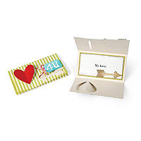 Ножи для высечки 5PK - Card w / Folding Closure , Hearts & Arrows , 658826