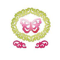 Ножи для высечки 4PK - Butterfly , Flourishes & Frame , 659125