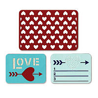 Ножи для высечки Sizzix Thinlits Die Set 3PK - Love , 659752
