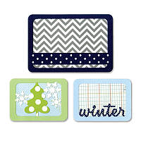 Ножи для высечки Sizzix Thinlits Die Set 3PK - Winter , 659757