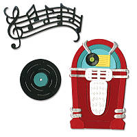 Ножи для высечки Sizzix Thinlits Die Set 11PK - Juke Box & Music, 659502