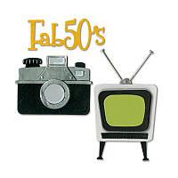 Ножи для высечки Sizzix Thinlits Die Set 11PK - Retro TV, Camera & Fab 50s, 659504