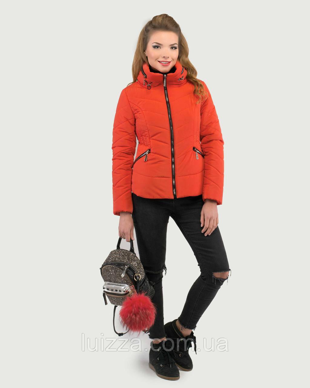 Молодежная короткая куртка 50-52рр коралл 48