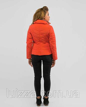 Молодежная короткая куртка 50-52рр коралл, фото 2