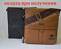 Мужская кожаная фирменная сумка барсетка Jeep Polo классика купить, фото 1