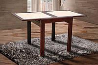 Стол обеденный раскладной Оникс (710/790х1420х790) (орех темный)