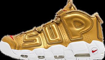 Женские кроссовки Nike Air More Uptempo Gold