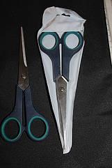 Ножницы бытовые с зеленными ручками средние №2
