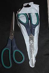 Ножницы бытовые с зелёными ручками №3