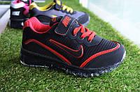 Детские кроссовки Nike черные с красным, копия , фото 1