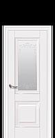Дверь межкомнатная Имидж со стеклом сатин,и рисунком