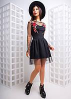 Платье сетка с вышивкой
