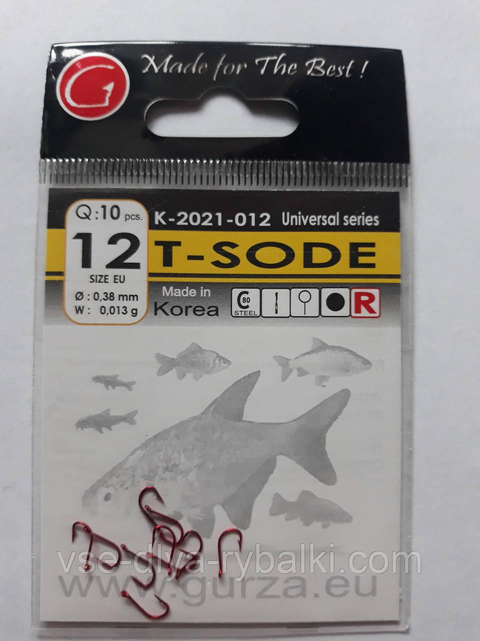 Крючки Gurza tokyo sode red № 12