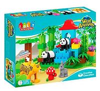 "Конструктор JDLT 5288 Wild Animals (репліка Lego Duplo) ""Зоопарк"" 59 дет"