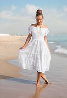 Сарафан, платье женское летнее белое из хлопка Индиано AnastaSea 645 F-1C, фото 1