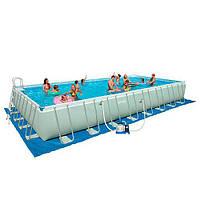 Каркасный бассейн Intex (26372) Ultra Frame 975х488х132см, песочн.фильтр-насос