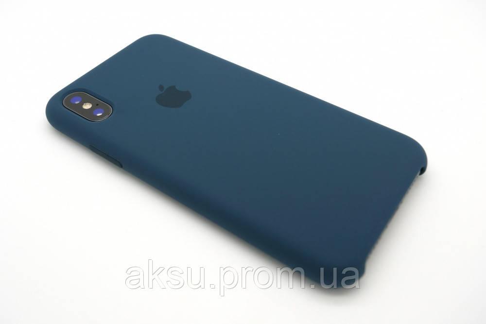 Оригинальный чехол Apple iPhone X Silicone Case, Cosmos Blue (Синий)