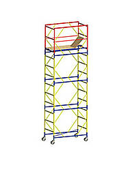Вышка-тура (0,8х1,7 м) 5+1 (Без домкратов) строительная передвижная на колесах металлическая ( стальная )