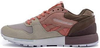 Женские кроссовки Reebok GL 6000 Brown/Beige/Pink