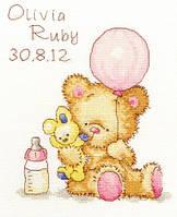 "Набор для вышивания Bothy Threads ""Huggles Balloon ""(розовый + голубой)"