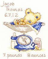 "Набор для вышивания Bothy Threads ""Huggles Featherweight ""(розовый + голубой)"