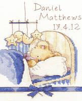 "Набор для вышивания Bothy Threads ""Huggles Bedtime ""(розовый + голубой)"