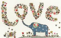 Набор для вышивания Love Elly, Влюбленный слон, XKA5