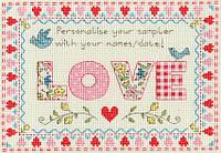 Набор для вышивания Love Sampler, Сэмплер Любовь, XSW5