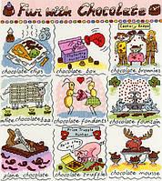 Набор для вышивания Dictionary of Chocolate ,Словарь шоколада, XDO17