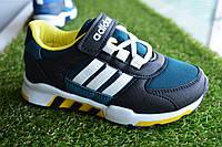 Детские кроссовки Adidas синий с желтым, копия