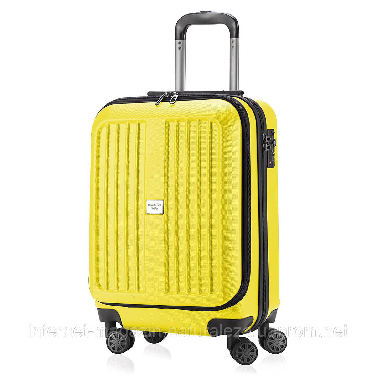 Валізу на коліщатках Hauptstadtkoffer Xberg Mini жовтий матовий