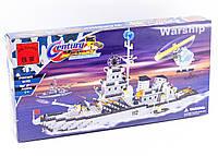 """Конструктор """"Военный корабль"""" 970 деталей Brick-112, фото 1"""