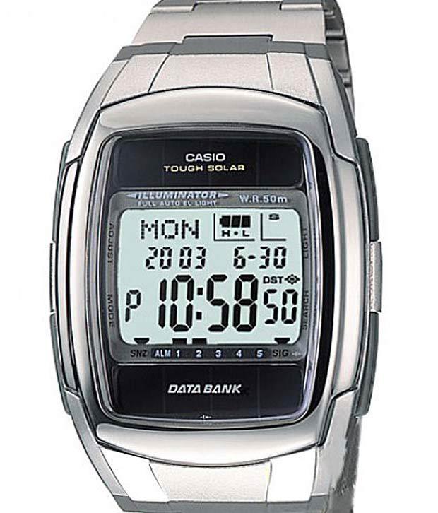 Мужские наручные часы Casio db-e30d-1avef серебристые на солнечной батарее