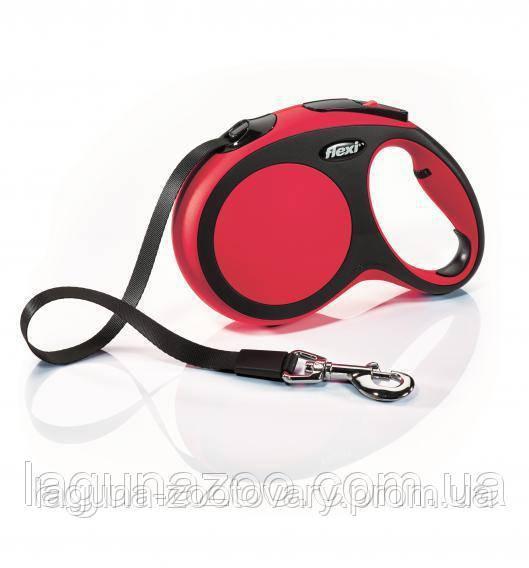 """TX-21363 Флекси """"New COMFORT"""" (5м/до60кг) красный поводок - рулетка для больших собак, лента"""