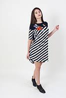 Трикотажное женская вышитое платье Фантазия