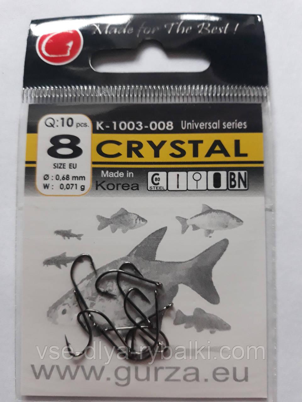 Крючки Gurza crystal № 8