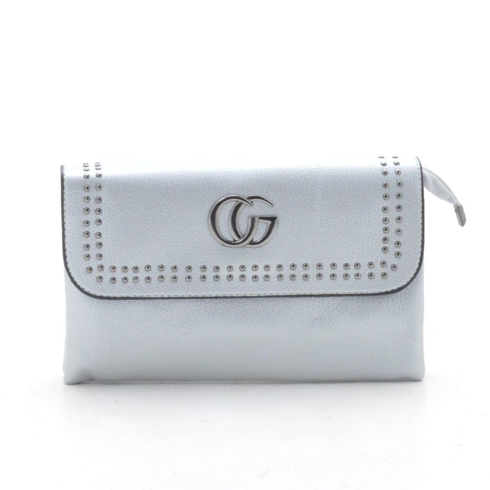 2629620eac22 Женская сумка-клатч KL 807 серебро - Женские сумки оптом и в розницу купить  дешево