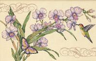 Набор для вышивания  Орхидеи и колибри