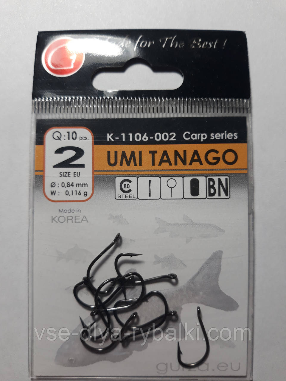 Крючки Gurza umi tanago № 2