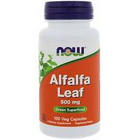 Now Foods, Alfalfa Leaf, 500 mg, 100 Veg Capsules
