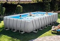 Intex 28366 (732 x 366 x 132 см.) Каркасный бассейн + песочный насос с хлоргенератором, лестница, тент, подсти