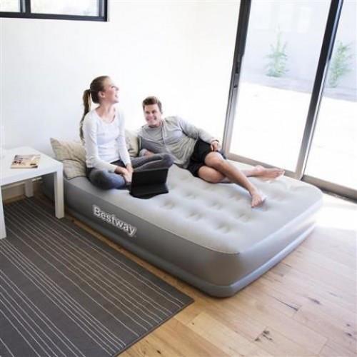 Надувная кровать Bestway 67459 (203х152х38 см.) - электронасос