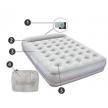 Надувная кровать Bestway 67459 (203х152х38 см.) - электронасос, фото 3