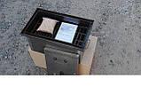 Коптильня черный метал с гидрозатвором, S=1.5mm 520x300x280мм , фото 4