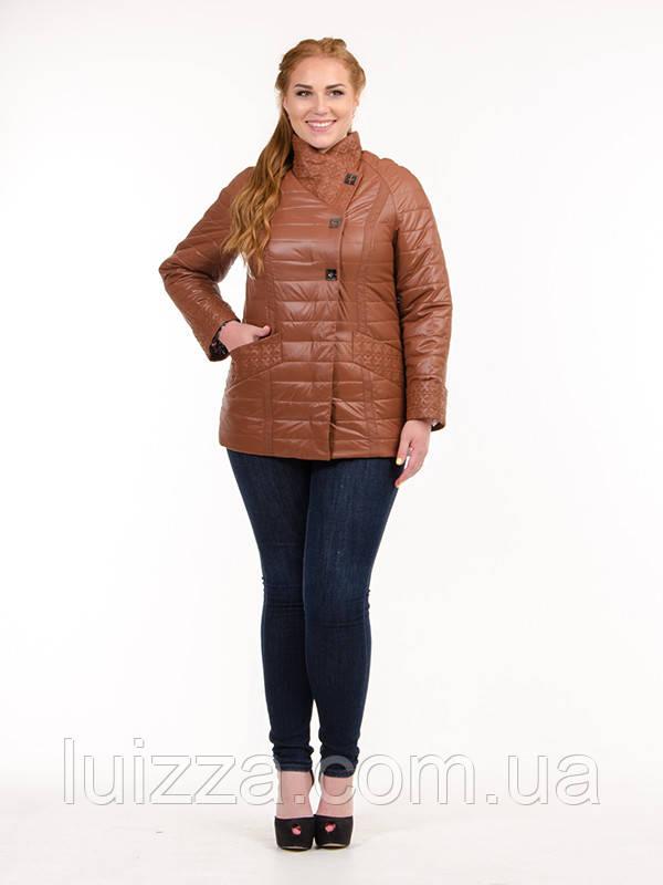 Женская куртка из плащевки лакэ 46-54рр рыжий 54