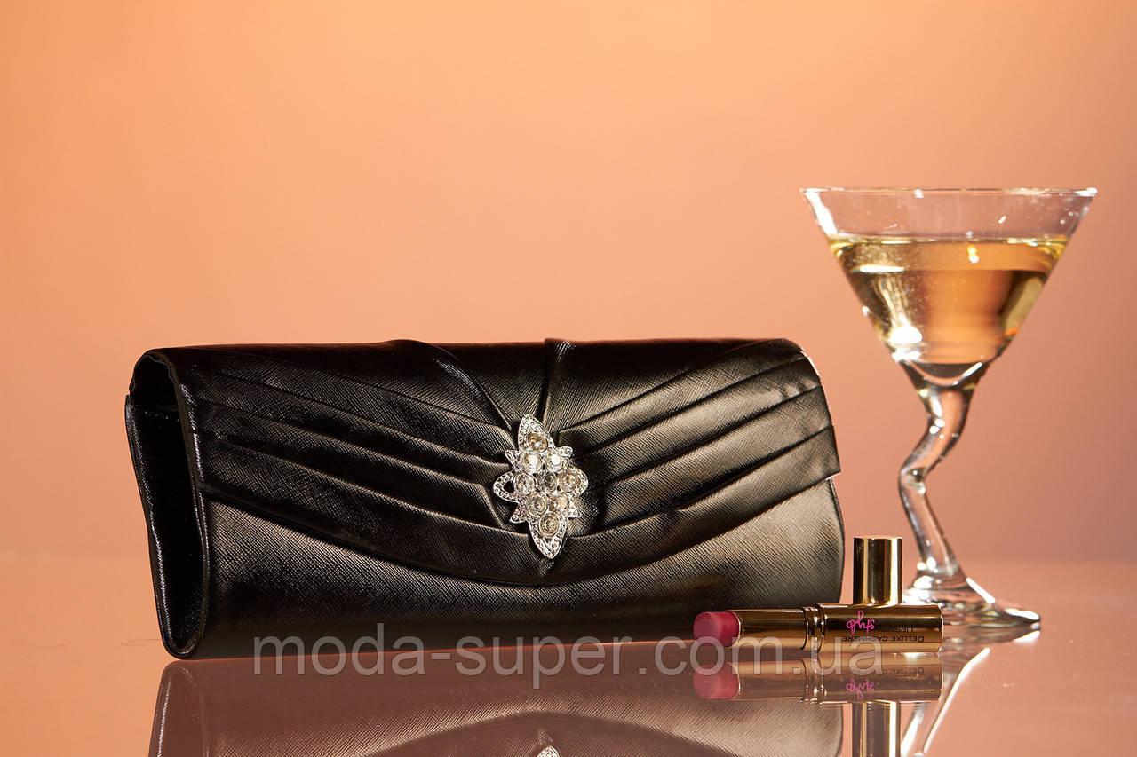 4ac206df2eef Клатч из блестящей ткани с брошью, цена 450 грн., купить в Харькове — Prom. ua (ID#668256657)