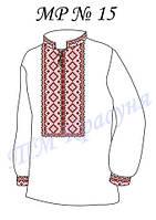 Заготовка на вышивку мужской рубашки №15, фото 1