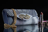 Клатч формы baguette c драпировкой