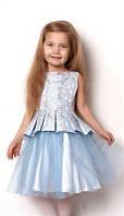 Детское нарядное платье Mevis, голубое